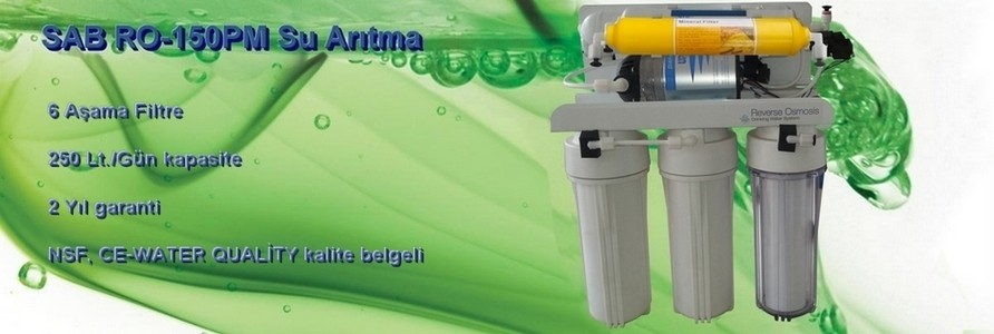 SAB RO-150PM 6 Aşamalı Mineral Filtreli Su Arıtma Cihazı
